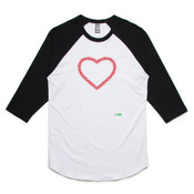 Red Chain Heart - Unisex Raglan Tee